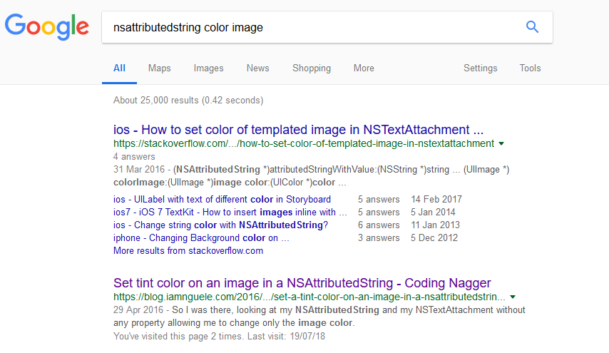 nsattributed string coding nagger google