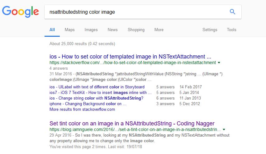 nsattributed string coding nagger google