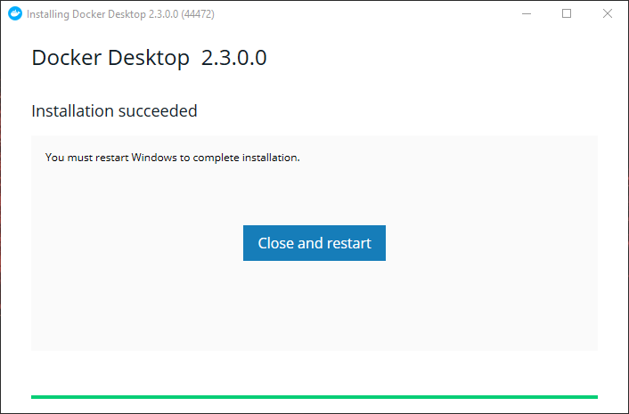 docker desktop for windows 10