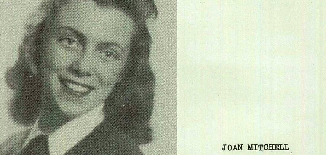 Joan Mitchell, Francis W. Parker School (Chicago), 1942; classmate of Edward Gorey–not pictured.