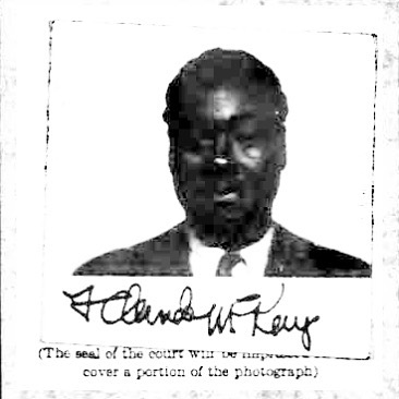 Claude McKay, Certificate of Arrival (INS), 1934