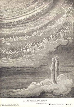 Two figures look at the great circle in heaven