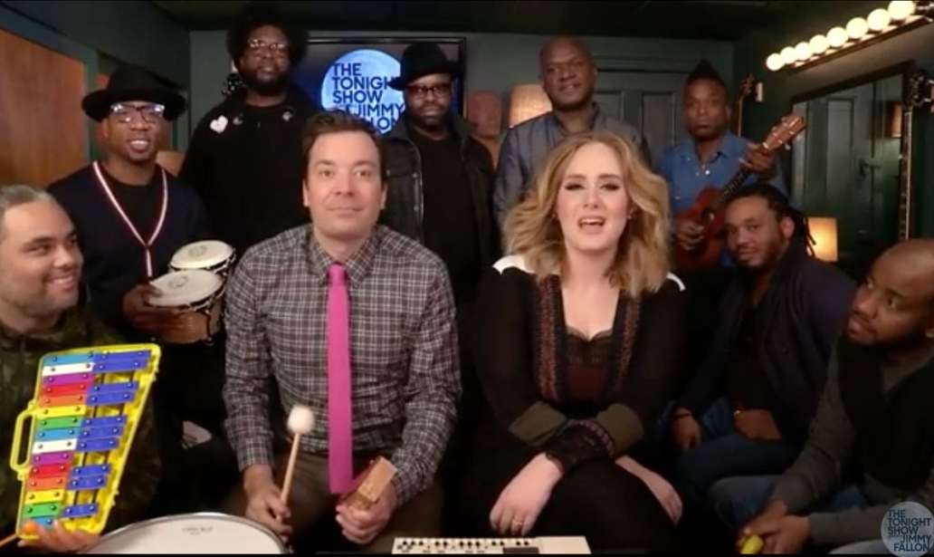 Adele and Jimmy Sing Hello
