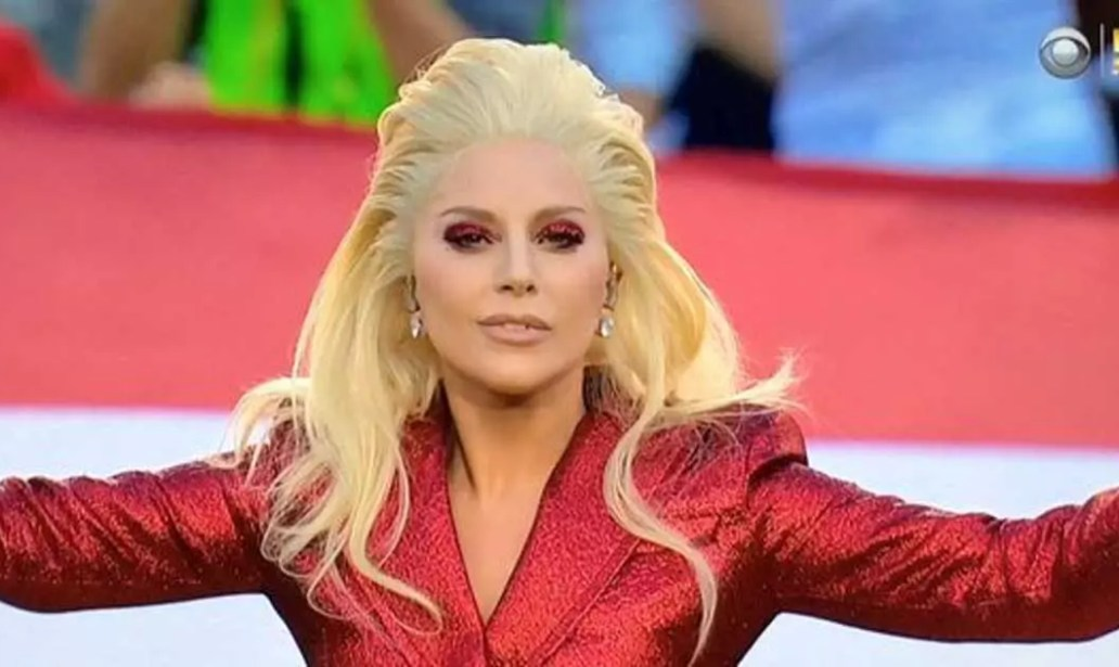 Lady Gaga Performs The National Anthem