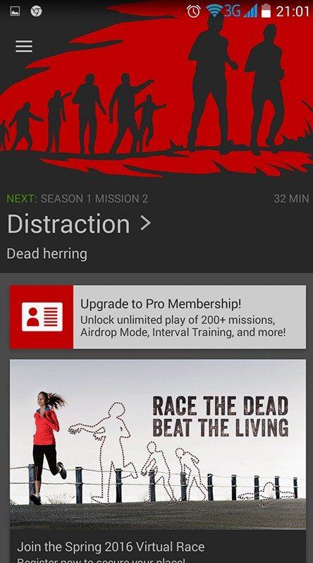 zombies run, fit aplikacje na telefon, fitness aplikacje