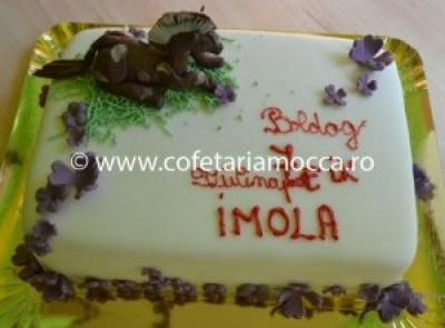 Tort pentru copii oradea  cal, elefant, hipopotan, figurine jungla(82)