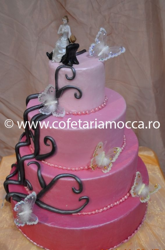Macheta De Tort Din Martipan Roz Codm11 Cofetăria Sweet Mocca Oradea