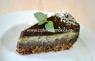 Felie de tort raw vegan cu menta