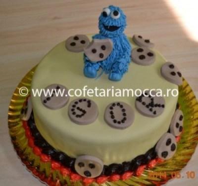 Tort pentru copii cookie monster, sesame street oradea (87)