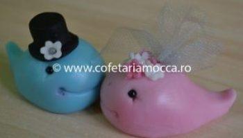 figurina balene din martipan pentru nunta