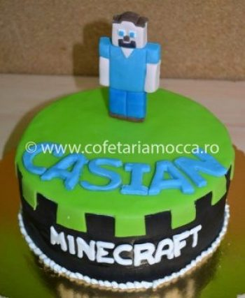 Tort din martipan Minecraft oradea