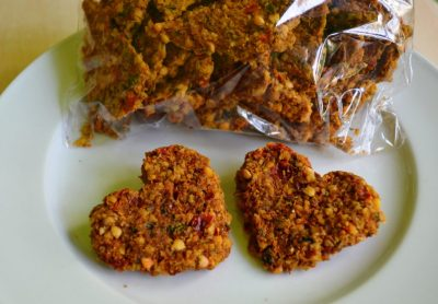Cracker raw vegan cu ardei