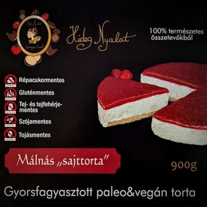 cheesecake vegan zmeura