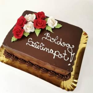 Tort Cioco cu Trandafiri - COD 461