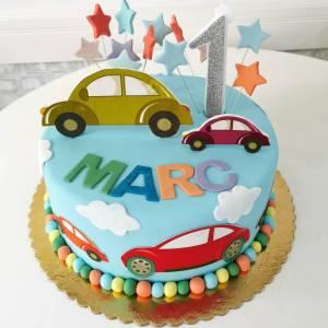 Tort Masinute colorate - COD 463
