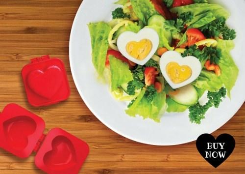 Molde para huevo duro en forma de corazón