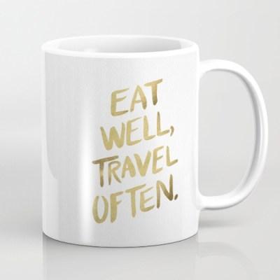 Tazas para regalar - Come bien y viaja mucho