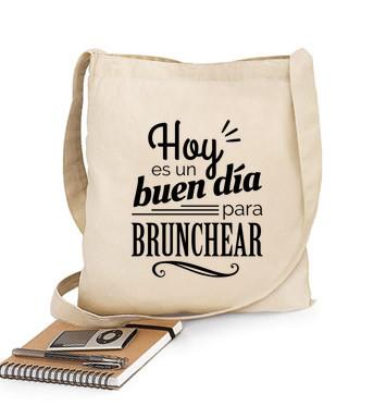 Bolsa de tela en algodón de una asa - Brunch es mi segundo nombre