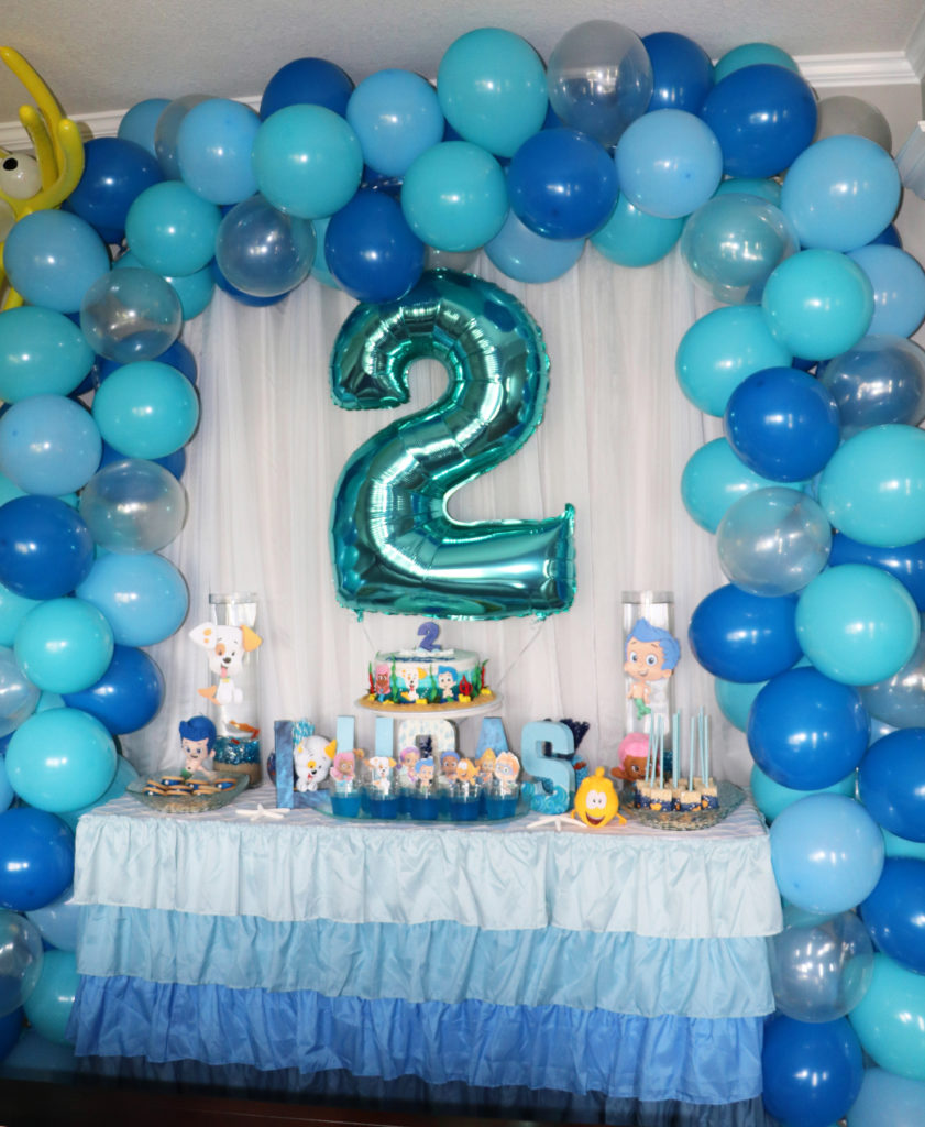A Blue Ombre Bubble Guppies Birthday Party