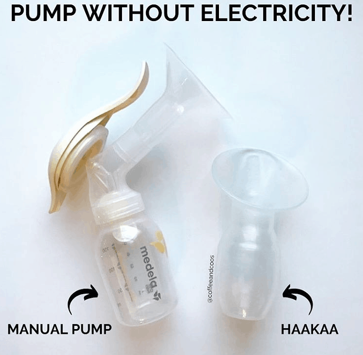 pump without electricity with a haakaa