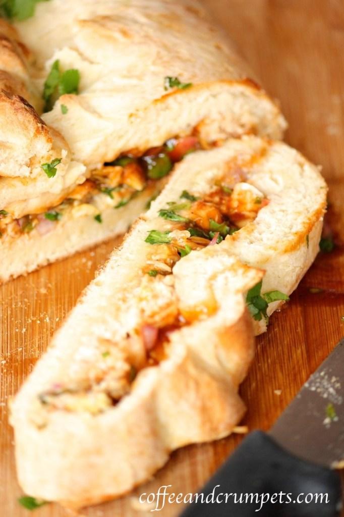 bbq chicken calzone