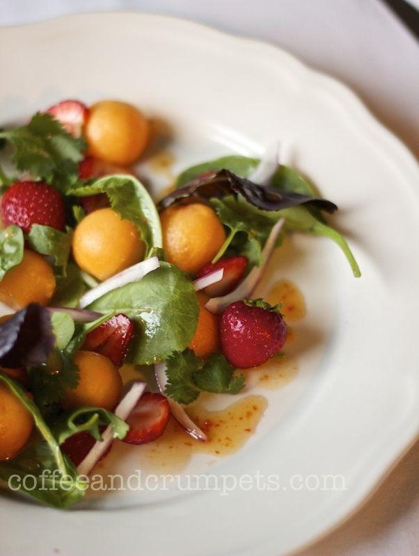 strawberry and melon salad