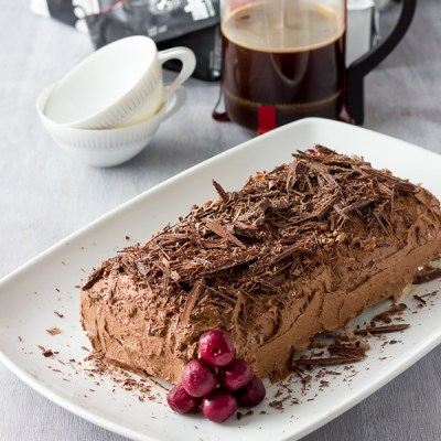 Black Forest Roulade and Lavazza Coffee