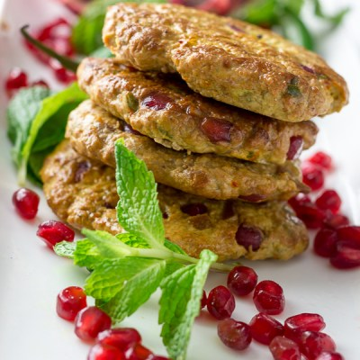 Pomegranate Chicken Kebabs