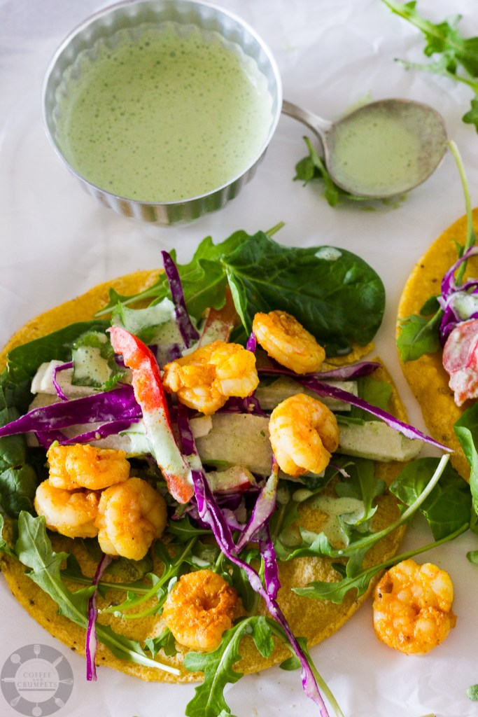 Spicy Shrimp Tacos ~ Coffee and Crumpets