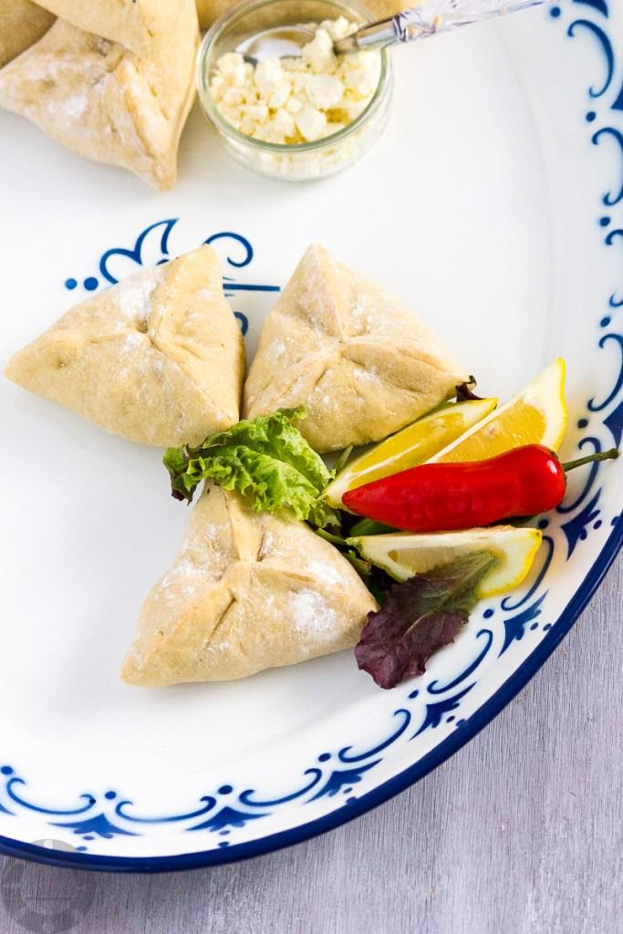 Spinach and Feta Fatayer