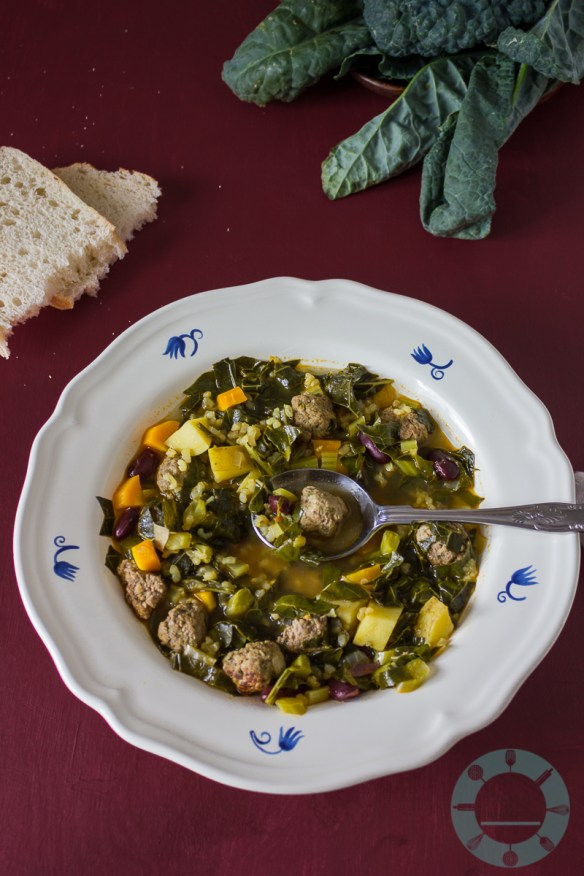 Kale and Meatball Soup