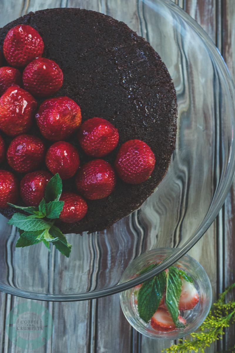 Devil's Food cake with Butter Glaze-