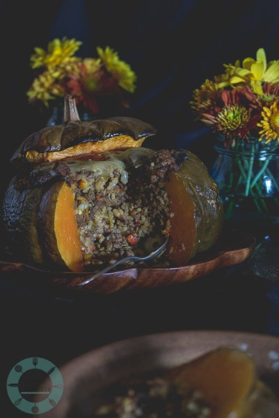 Stuffed Musquée de Provence Pumpkin
