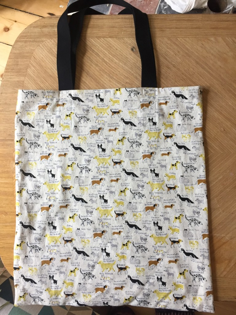Dog Fabric Tote Bag - Finished Tote