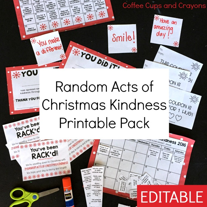 Random Acts Of Christmas Kindness Printable Pack