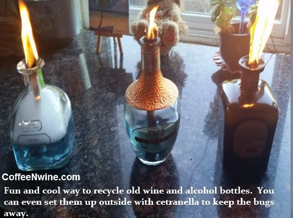 Recycle old wine bottles. Fun and cool way to recycle old wine and alcohol bottles.