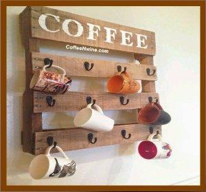 Pallet coffee cup holder (Pallet coffee cup holder)