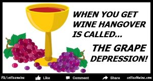 Wine hangover is called The Grape Depression (How to avoid a Wine Hangover)