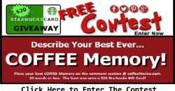 What is Your Best Ever Coffee Memory Contest