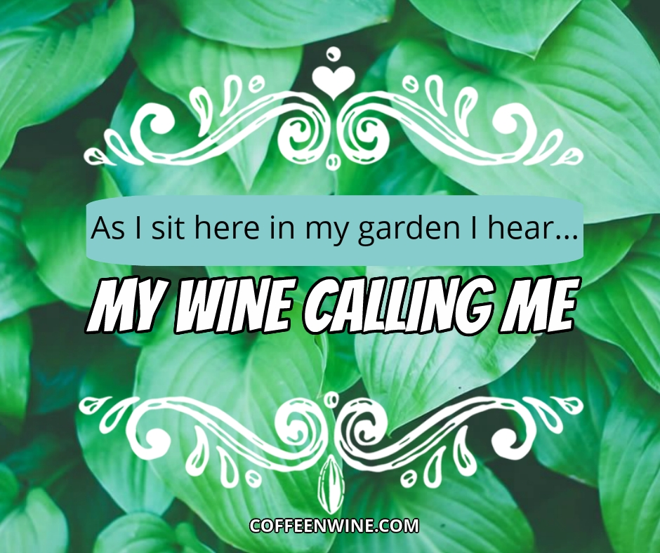 Tumblr Wine Quotes Images - As I sit in my garden I hear my wine calling me