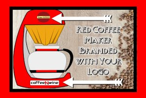Red Coffee Maker Branded with Your Logo 2 1