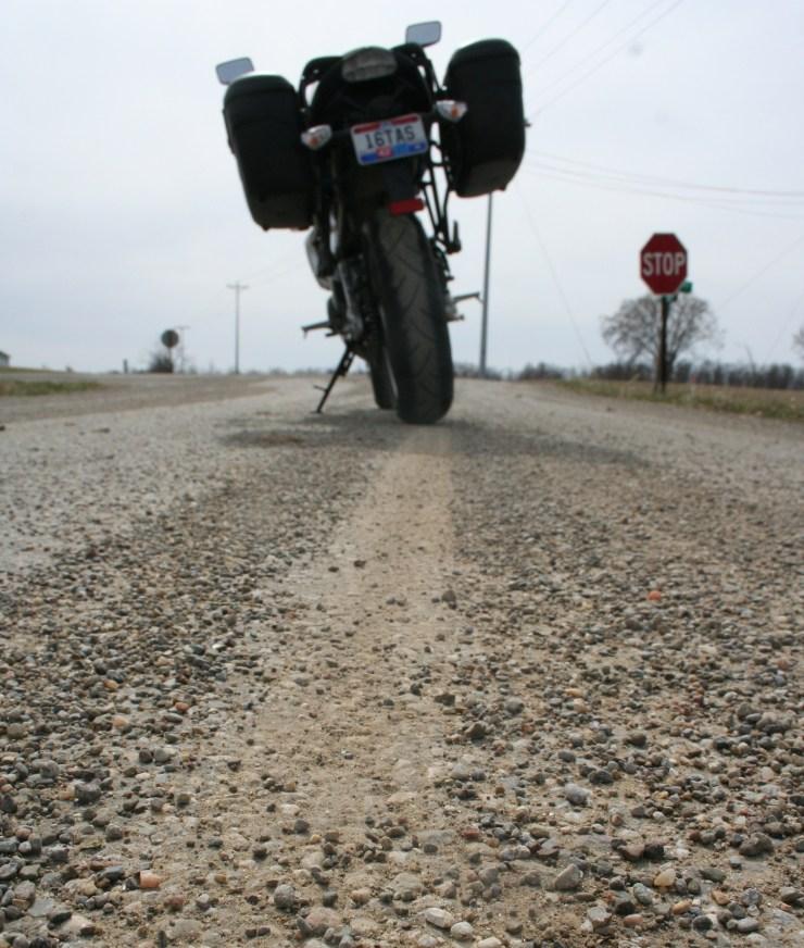 gravel on road