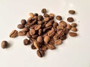 Coffee roasting in oven