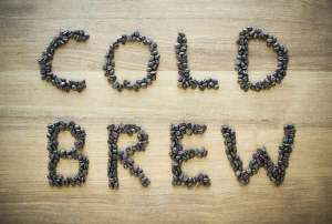 Cold brewed coffee hot for the aromas