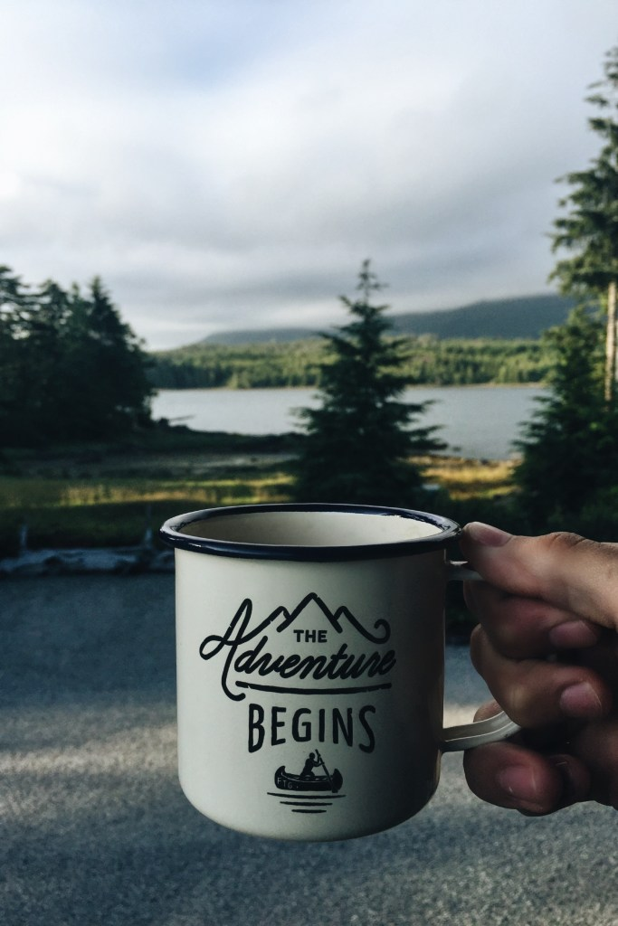 adventure begins coffee