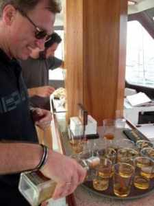Sergiy readies the vodka
