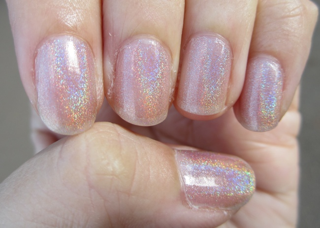 glitter gal australia holographic nude close up