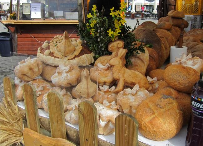 krakow easter market animal shaped pastries