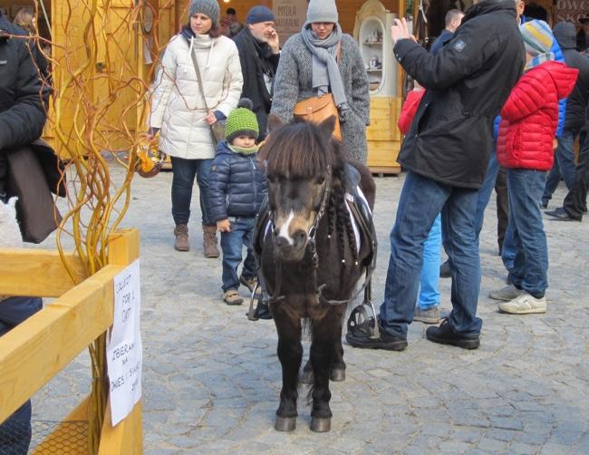 krakow easter market pony