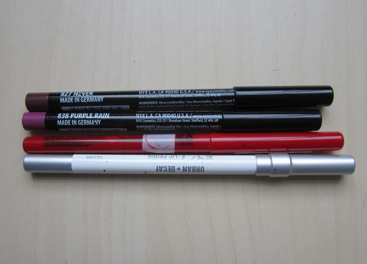 inventory london 2015 lip liners